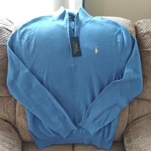 Ralph Lauren Polo NWT cardigan pima cotton XL